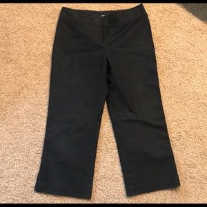 🌺 2/$18🌺 Cabi Black Capri Cropped Pants Sz 10